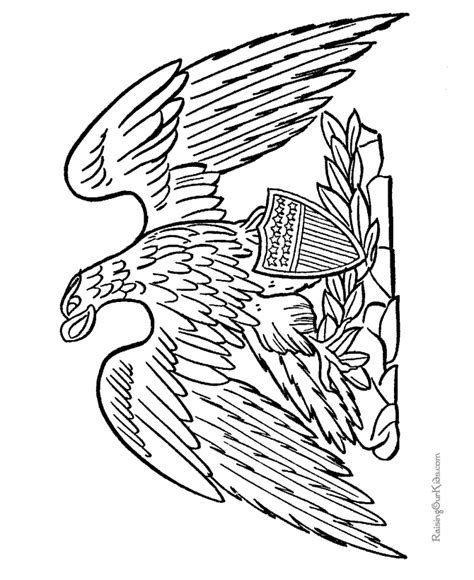 eagle flag coloring page patriotic eagle drawings and coloring pages 005
