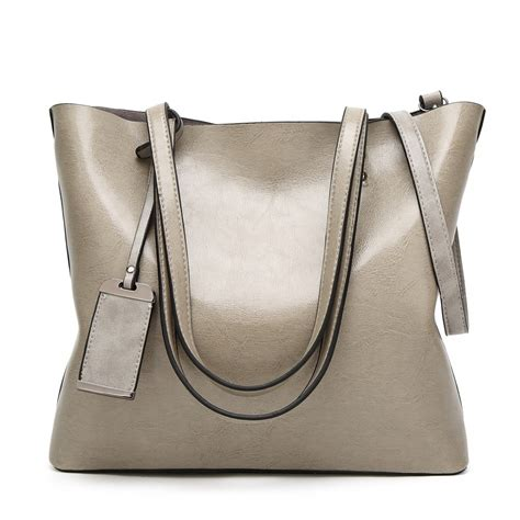 Mogu Top Gy 1 e6710 gy miss lulu wax leather top handle bags grey