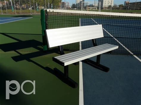 tennis court bench tennis court seating shading p bnp0401bc 4 feet