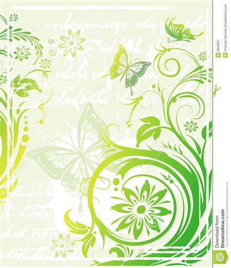 green grunge vector background royalty free stock images image 9980349 vector grunge floral background royalty free stock photography image 9840807