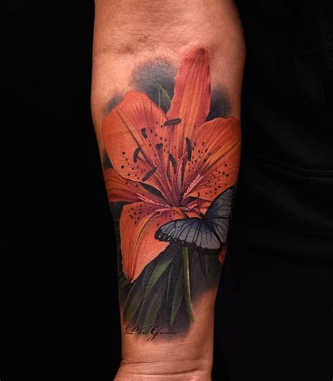 orange lily tattoo designs tattooed this orange a scar today was to do
