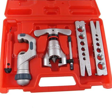 Tubing Tool Kit Set tubing pipe flaring tools cutter set kit 45 degree eccentric cone type in tool parts from tools