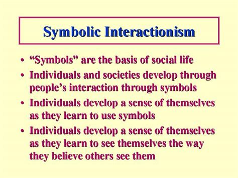 Symbolic Interactionism Essay by Communicate With Me Quot Humans Act Toward Or Things On The Basis Of The Meanings They