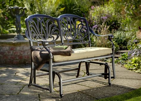 wrought iron patio glider bench wrought iron patio glider home design ideas and pictures