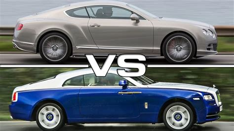 bentley wraith interior 2016 bentley continental gt vs 2015 rolls royce wraith