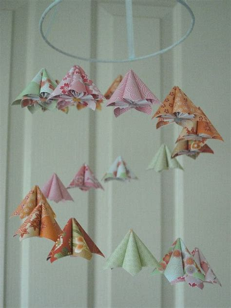 Japanese Flower Origami - japanese kusudama flower origami baby mobile origami