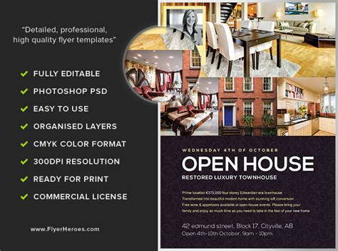 free open house flyer template open house flyer template flyerheroes