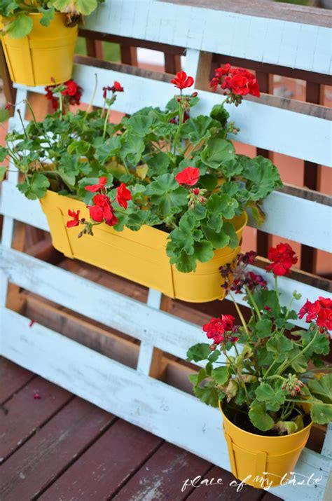 Flower Pot Hangers - pallet flower pot hanger place of my taste