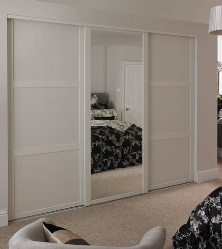 Howdens Fitted Wardrobes by White Shaker Panel Mirror Door Sliding Wardrobe Doors
