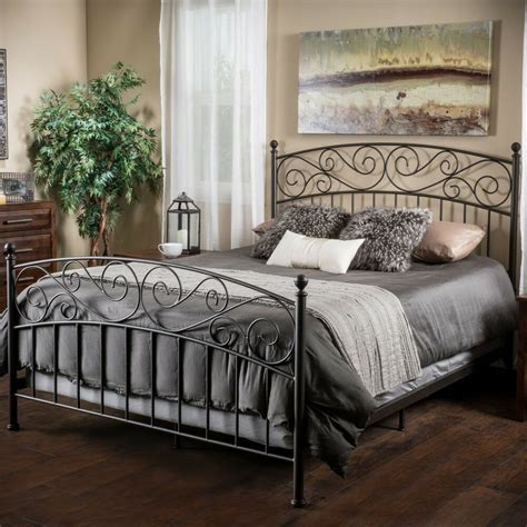 Bed Frames King Size by Bedroom Furniture King Size Iron Bed In Bronze Ebay