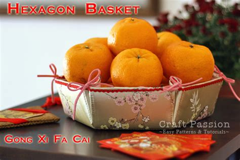 new year oranges exchange hexagon basket free sewing pattern craft