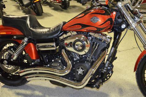 Harley Davidson Hd011 Black Orange 2011 sedona orange black flames harley davidson dyna wide glide fxdwg extras 9k