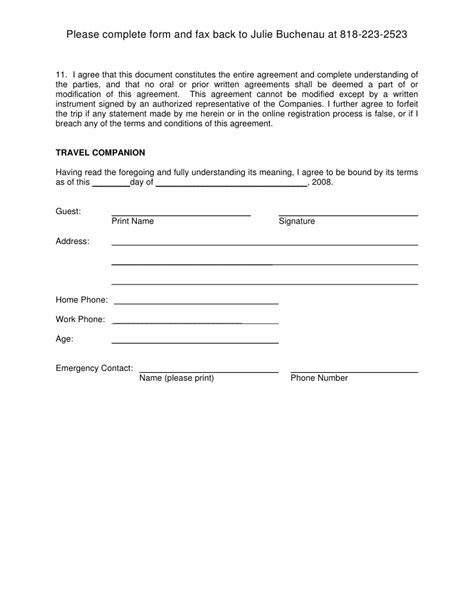 Release Letter For Damages Free Printable Liability Document Form Generic