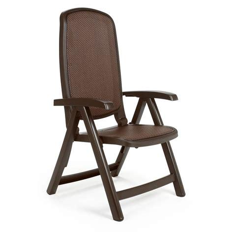 sedie sdraio plastica sedia reclinabile in plastica per giardino delta nardi