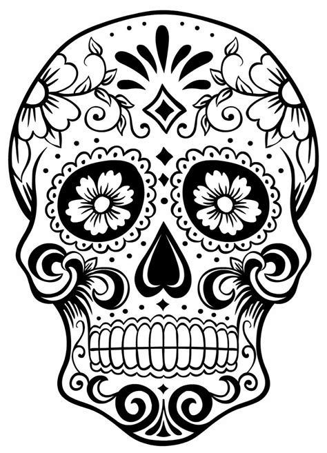 sugar skull tattoo outlines pictures sugar skull outline skull skulltattoo sugarskull