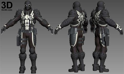 Home Design 3d Reviews by 3d Printable Model Agent Venom Flash Thompson Full Body