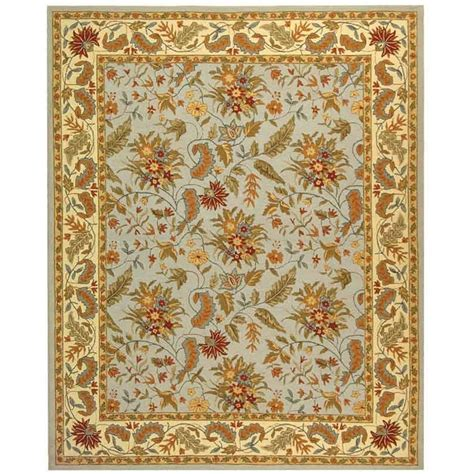 9 X 11 Area Rugs Safavieh Chelsea Light Blue 8 Ft 9 In X 11 Ft 9 In Area Rug Hk141d 9 The Home Depot