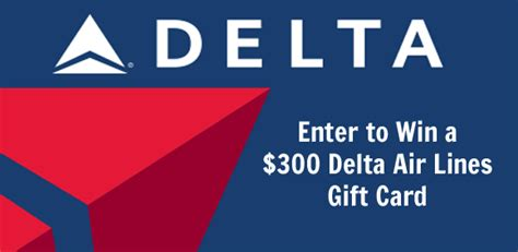 win a 300 delta air lines gift card - Us Air Gift Card