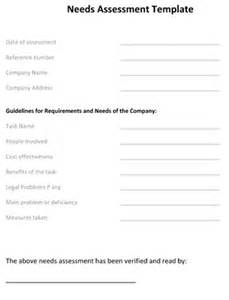 need assessment template needs assessment template 8ws templates forms