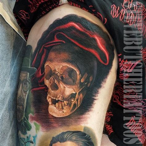 butcher tattoo designs of a skull in velvety by steve butcher