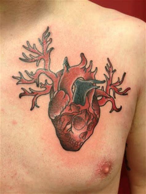 tattooed heart male version heart tattoos for men design ideas for guys