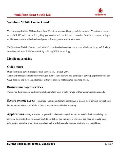 vodafone up letter mba project on vodafone financial hardship assistance