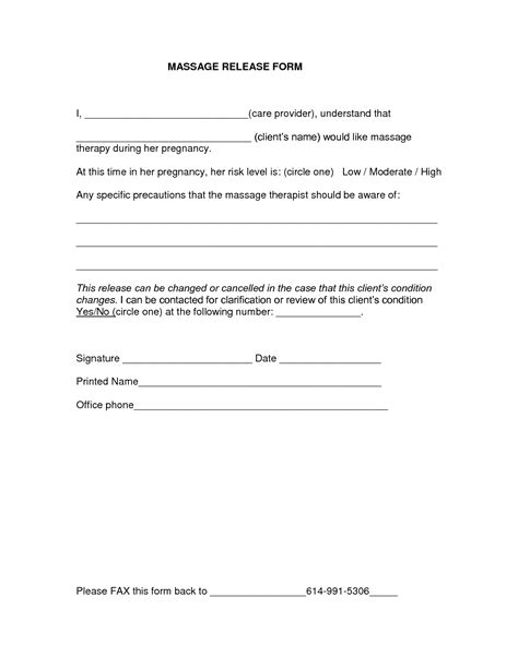 Medical Release Form Templates Free Printable Release Form Template
