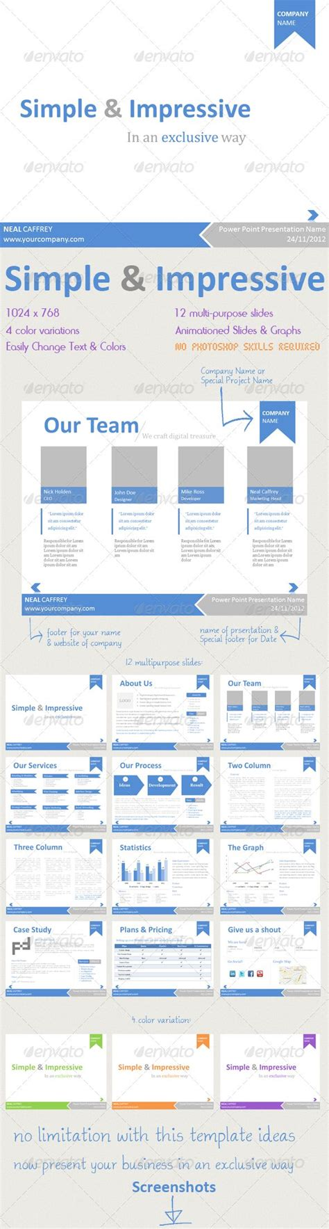 Simple Impressive Powerpoint Template Creative Design Fonts And Green Ideas Impressive Powerpoint Templates