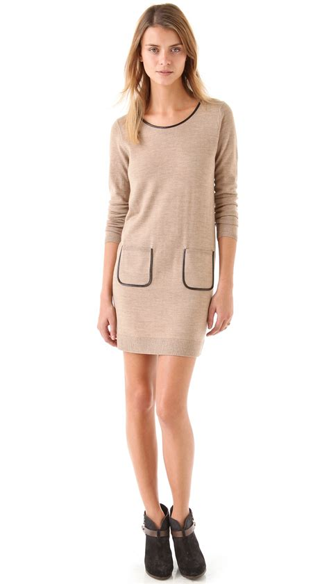 Sweater Club Vapor Clothing lyst club monaco hermione sweater dress in pink