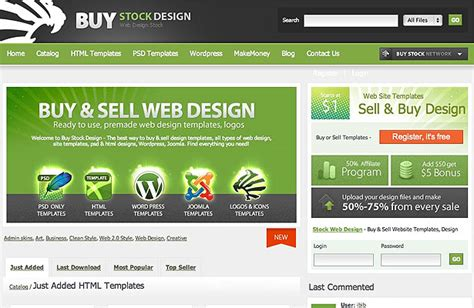 ebay templates for sale 10 places to sell templates webdesigner depot