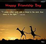 Happy Friendship Day Greetings Sun Shine Natural Quote