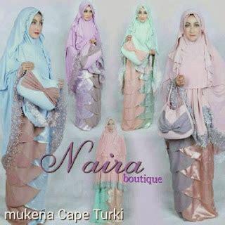 Muslimah Umroh By Unaisah mukena cape turki by naira boutique melody fashion