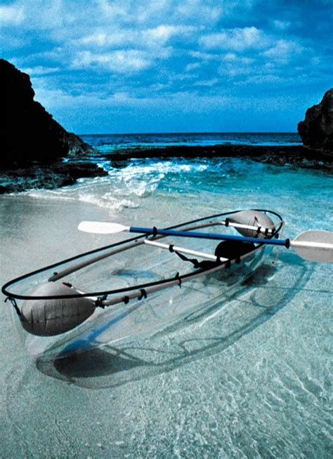 clear kayak transparent kayak very pretty but not very practical for