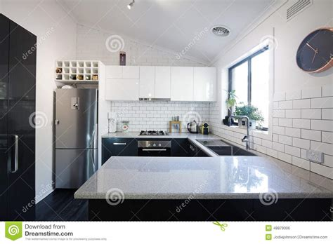Designer Kitchen Tiles by New Black And White Contemporary Kitchen With Subway Tiles