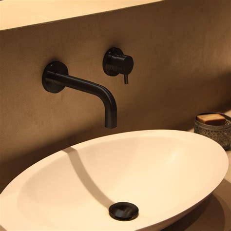 modern wall mount bathroom faucet matte black