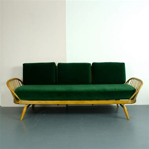 green vintage couch vintage ercol studio couch blonde with green velvet