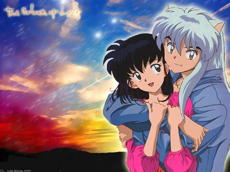 anime inuyasha inuyasha kagome anime wallpaper 28631400 fanpop