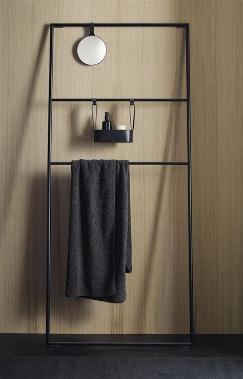 black towel racks bathroom free standing towel rack ideas for your bathroom