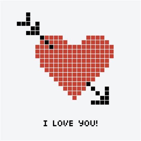imagenes de corazones de video juegos coraz 243 n pixelado con una flecha descargar vectores gratis