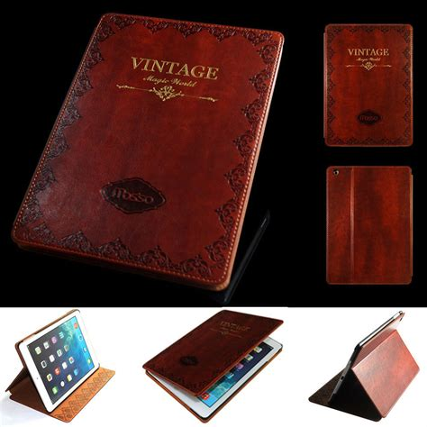 Mini 1 2 3 4 Retro Leather Wallet Casing mosiso retro vintage flip stand smart pu leather fr 2 4 5 6 mini pro ebay
