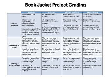 design book cover rubric book jacket project checklist and rubric by inspire dream