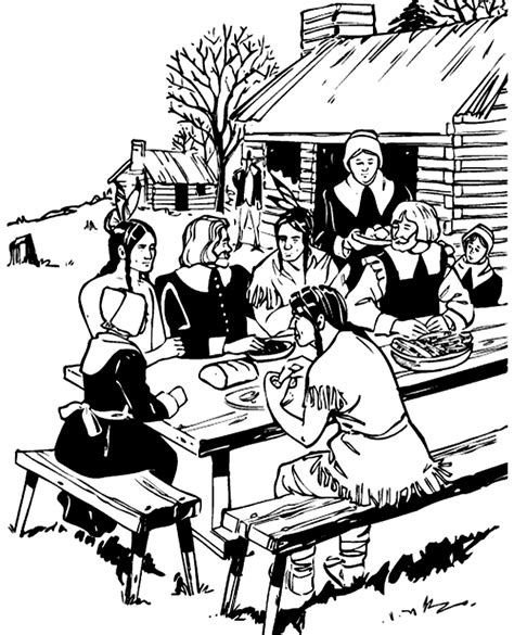 Coloring Pages For Thanksgiving Feast | disney coloring pages thanksgiving feast coloring pages