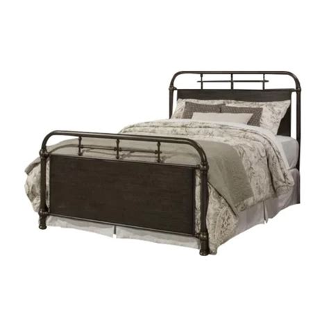 Rustic Metal Bed Frames by Rustic Brown Kingston Metal Bed Frame Temple Webster