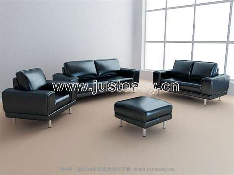 business sofa 3d model of leather sofa business combination including