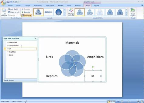 how to make venn diagram in word office 2007 demo create a venn diagram