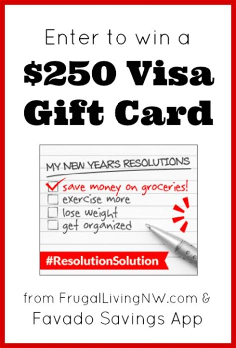 Visa Gift Card App - reminder enter to win a 250 visa gift card frugal living nw