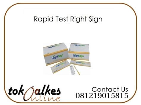Alat Rapid Test rapid test right sign toko alat kesehatan toko alat kesehatan