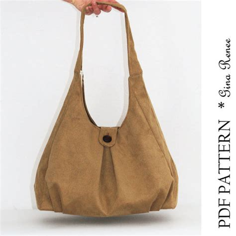 etsy handbag pattern pdf purse sewing pattern shoulder bag pattern