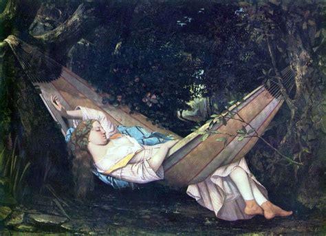 Le Hamac by Le Hamac Par Gustave Courbet 1001 Tableaux