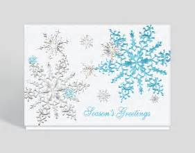 season greetings cards for businesses shimmering snowflakes season greeting card 300092
